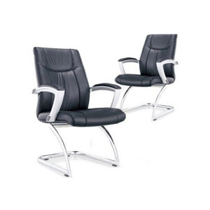 Wholesale PU Or Leather Office Conference Chair With Chrome Metal Frame(YF-6125)