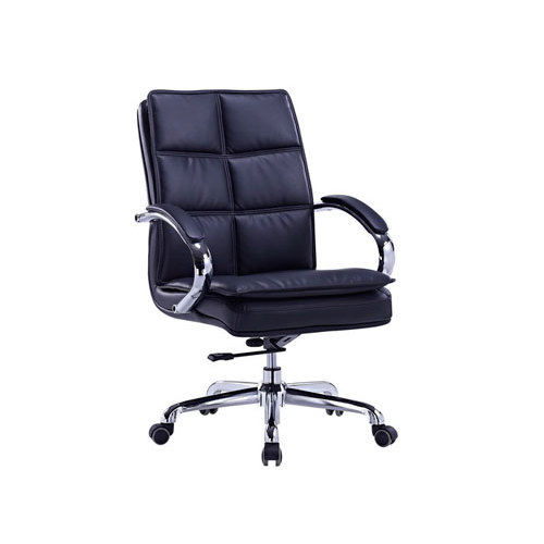 Mid-back PU Leather Office Executive Swivel Chair with Aluminum armrest and Aluminum Base(YF-8326)