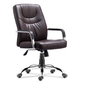 Wholesale Office task chair with PU wheel, chrome base, chrome armrest(YF-8516)