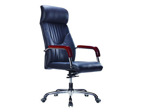 Wholesale leather swivel office chair with aluminum alloy frame(YF-9319)
