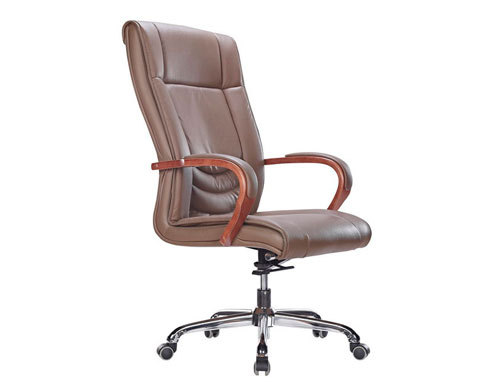Wholesale leather swivel office chair with aluminum alloy frame(YF-9320)