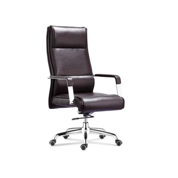 Wholesale Executive office chair with chrome armrest and chrome base(YF-9322)
