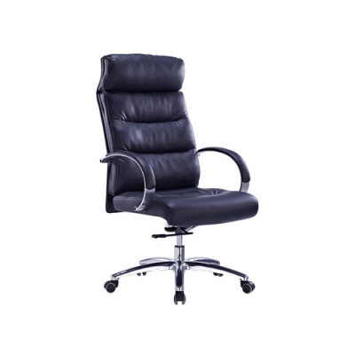 Wholesale Executive office chair with alloy armrests and chrome base(YF-9332)