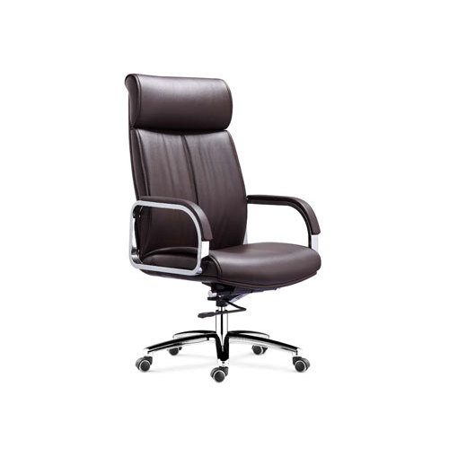 Wholesale Executive Swivel Chair With Chrome Base And Armrests(YF-9358)