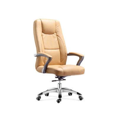 Wholesale leather swivel office chair with PP armrests and aluminum base(YF-9365)
