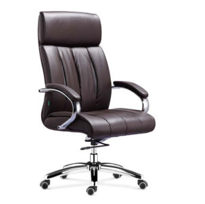 Wholesale Double colored geniun leather swiel chair leather furniture(YF-9373)