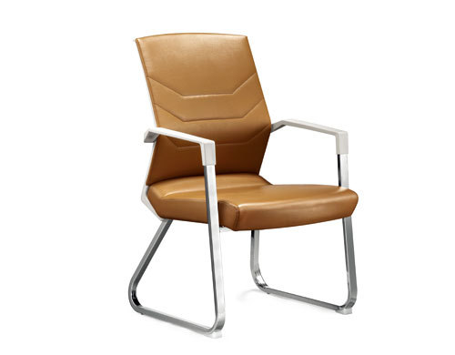 Wholesale Middle Back Yellow PU Conference Chair with Metal Frame and Armrests(YF-2606)