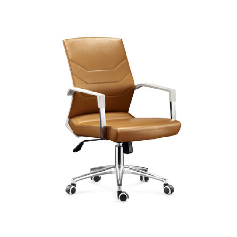 Wholesale leather office task chair with chrome base and armrests(YF-8606)