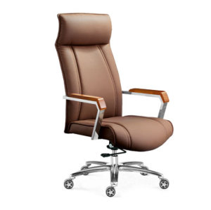 Wholesale Double colored geniun leather swiel chair leather furniture(YF-9205A)