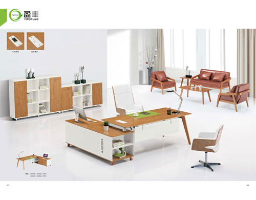 Wholesale excutive office desk with side cabinet(YF-3020)