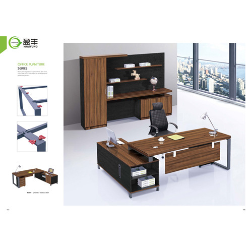 Wholesale excutive office desk with side cabinet(YF-4020H)