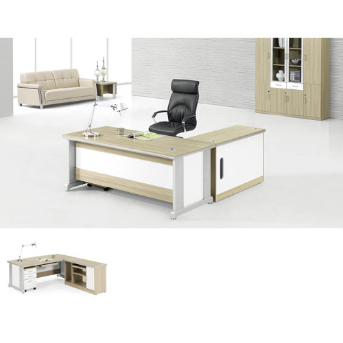 Wholesale Workstation Multi-size Computer Table With Side Cabinet(YF-T209)