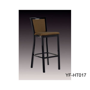 Low Back Bar Stool Wholesale Made of Black Powder Coating Metal Base and Fabric & Bar Chair Supplier