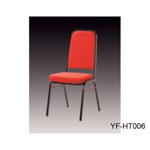Red Fabric Banquet Chair with Metal Frame and Soft Cushion for Hotel Restaurant and Banquet