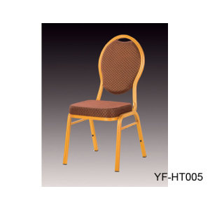 Metal Frame Banquet Chair with Soft Fabric Cushion for Wedding Banquet Hall