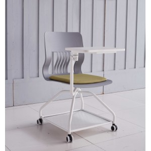Modern Design Training Chair with  Castor Base and Writing Tablet (YF-01022)