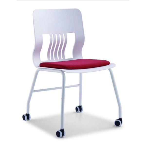 Modern Office Stacking Training Chair With Cushion And Castors(YF-LY-BM2-B)