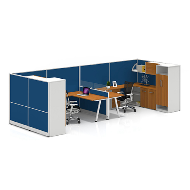 Modern Design Modular Office Furniture Private Workstation with File Cabinet and Office Screen
