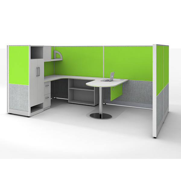 Customization Modern Office Furniture Workstation Desk with File Cabinet and Office Screen