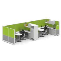 Wholesale Modern Office Furniture Workstation Desk with File Cabinet and Office Screen YF-JM(60)
