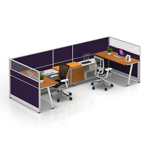 Modern Office Workstation Desks with Office Screen and Cabinets(YF-JM(60)-JM+P-1201)