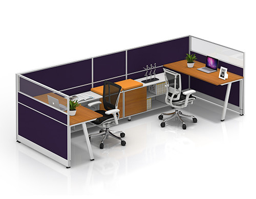 China Office Furniture Supplier & Modern Office Workstation Desks with Office Screen and Cabinets