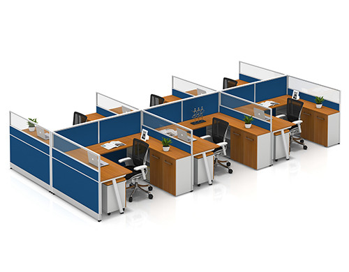 Modern Office Desks & Customized Modular Office Furniture & 6 Person Office Workstation Tables