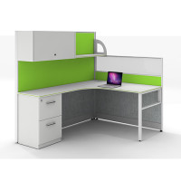 Customize Modular Office Furniture & Modern 8-person Workstation Computer Desks and Chairs