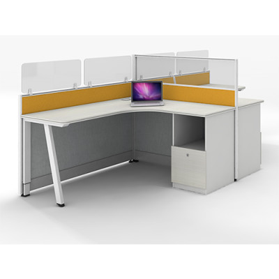 Modular Mordern Office Furniture 2 Person Workstation Office Desk China Supplier