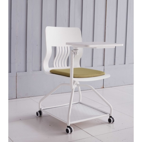 Modern Design Training Chair with  Castor Base and Writing Tablet (YF-01020)