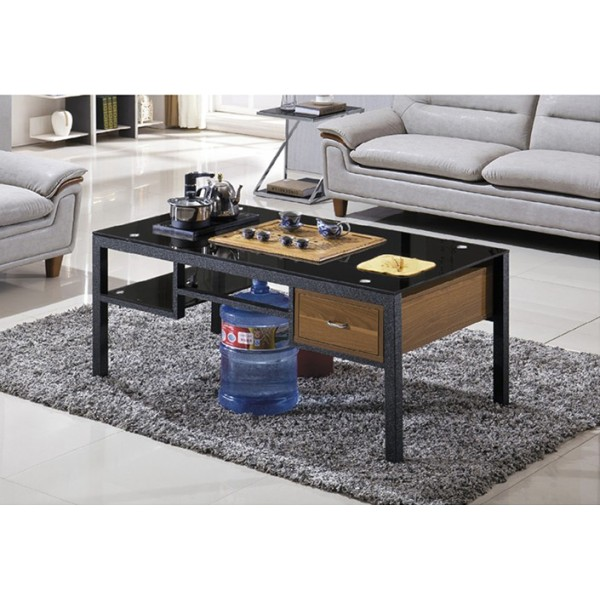 Yingfung Tea Table with stainless steel frame and 10mm tempered glass (YF-17064T)