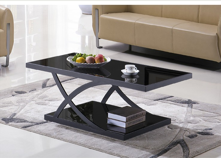 Yingfung Tea Table with stainless steel frame and 10mm tempered glass (YF-17067T)