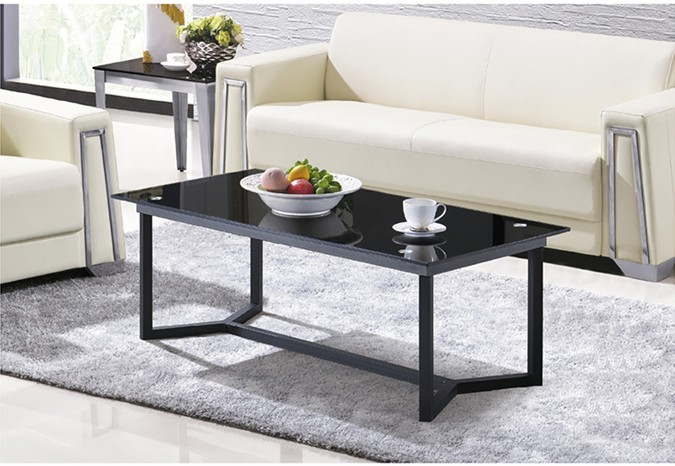 Yingfung Tea Table with stainless steel frame and 10mm tempered glass (YF-17068T)