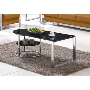 Yingfung Tea Table with stainless steel frame and 10mm tempered glass (YF-17069T)