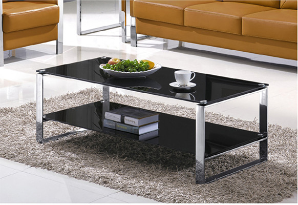 Yingfung Tea Table with stainless steel frame and 10mm tempered glass (YF-17071T)