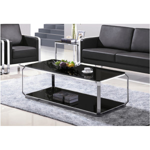 Yingfung Tea Table with stainless steel frame and 10mm tempered glass (YF-17081T)