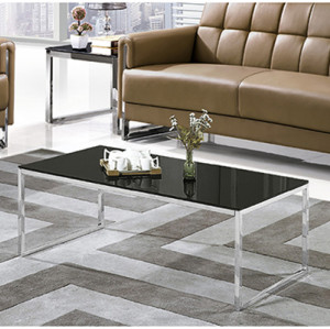 Yingfung Tea Table with stainless steel frame and 10mm tempered glass (YF-17088T)