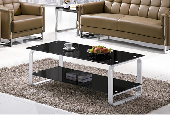 Yingfung Tea Table with stainless steel frame and 10mm tempered glass (YF-17086T)