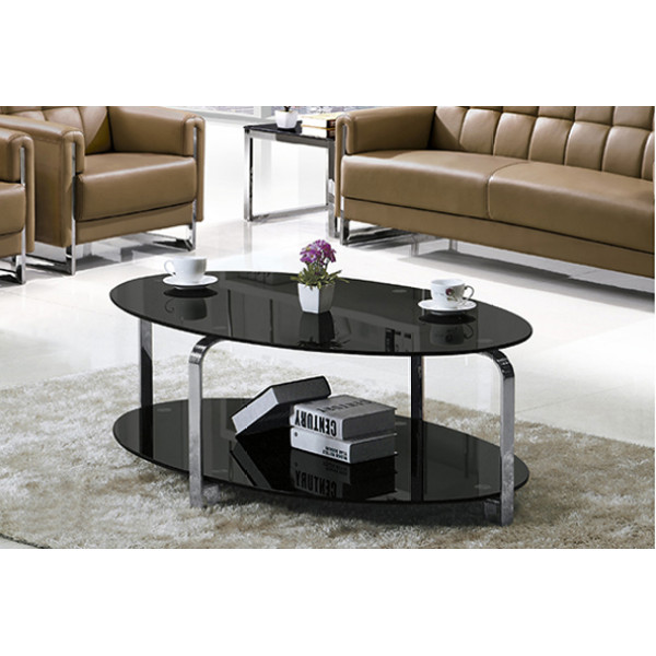 Yingfung Tea Table with stainless steel frame and 10mm tempered glass (YF-17089T)