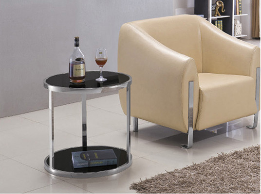 Yingfung Tea Table with stainless steel frame and 10mm tempered glass (YF-17098T)