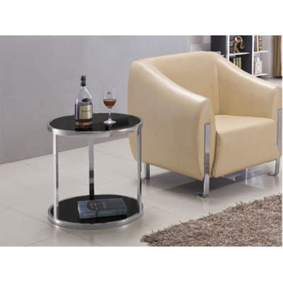 Yingfung Oval Tea Table with stainless steel frame and black powder coated (YF-17098T)