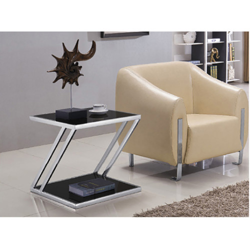 Yingfung Rectangle Tea Table with stainless steel frame and 8mm tempered glass (YF-17100T)