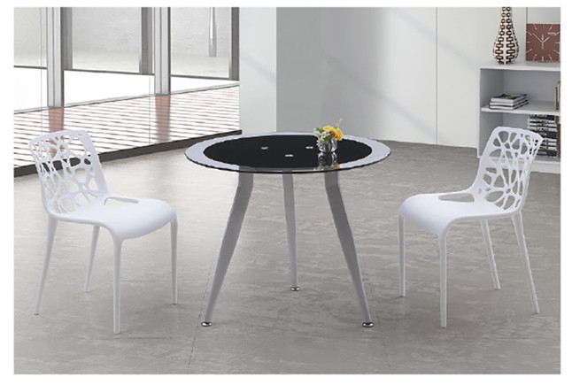 Yingfung Tea Table with powder coating and 8mm tempered glass Metal(YF-17007T-1)