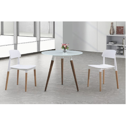 Yingfung Tea Table with solid wood and 8mm thickness tempered glass(YF-17004T)