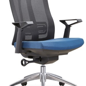 Mid-back mesh task chair with alumnium base and nylon armrest(TL-B30-2)