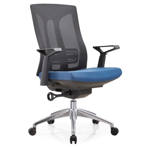 Mid-back mesh task chair with alumnium base and nylon armrest(TL-B30-2)