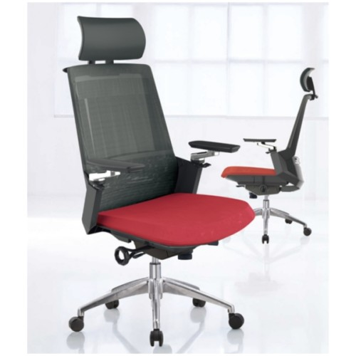 Y&F High Back Mesh Executive Chair with aluminum base and aluminum armrest(YF-A33)