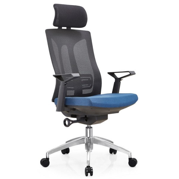 Y&F High Back Mesh Executive Chair with alumnium base and nylon height adjustable armrest (YF-A30-2).