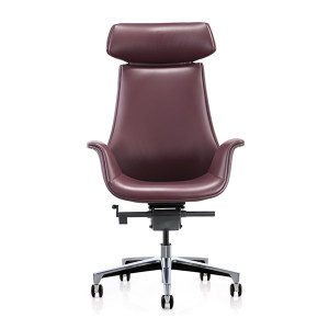 Y&F High-back PU Office Swivel Chair with Aluminum base (YF-825-18)