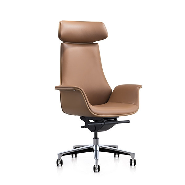 Y&F High-back PU Office Swivel Chair with Aluminum base